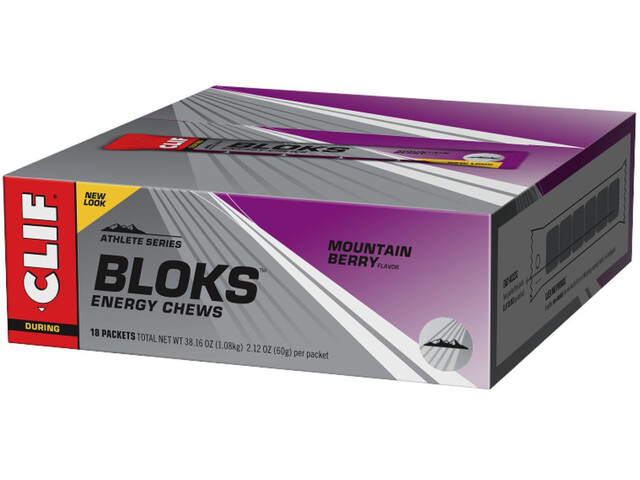 CLIF Bar Shot Bloks Box 18x60g, Mountain Berry